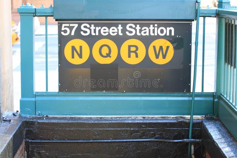 de 57ste Post van de Metro van de Straat stock afbeelding