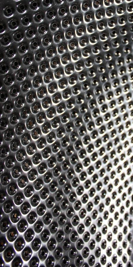 De aço inoxidável perfurado, textura ou fundo metálico imagens de stock