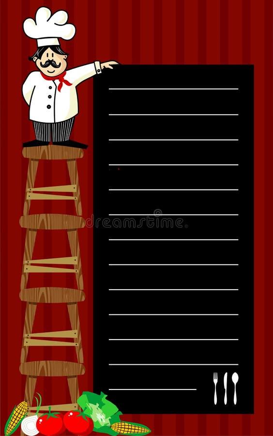 De aanbevelingen van de chef-kok royalty-vrije illustratie