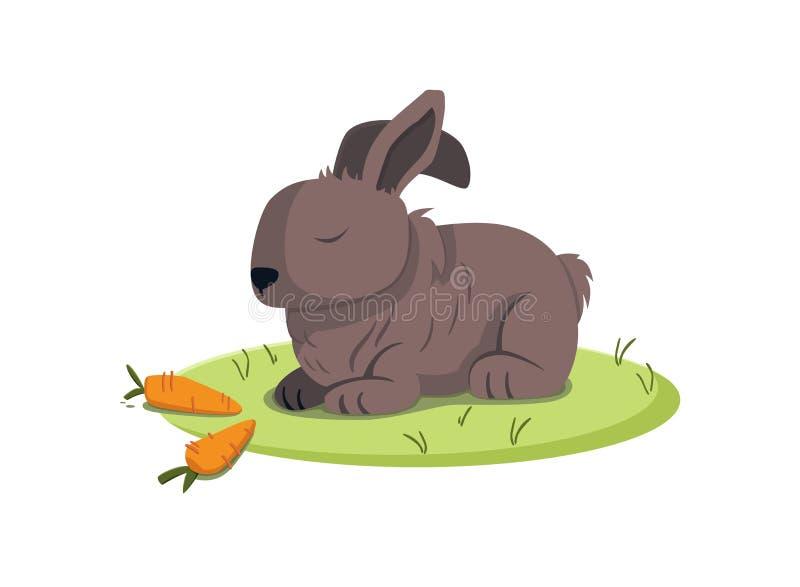 De aanbiddelijke illustratie van het konijn vectorbeeld vector illustratie