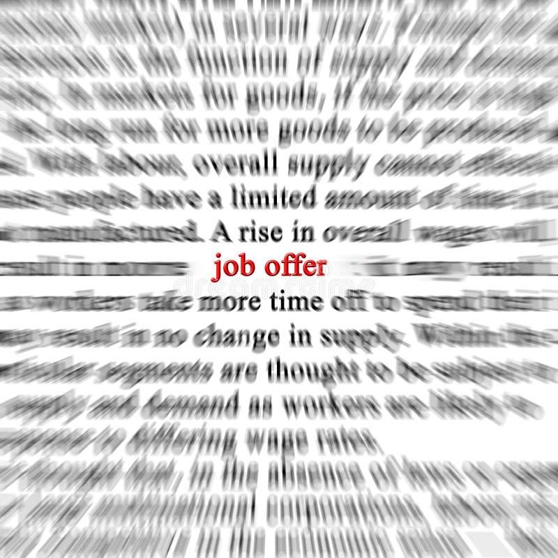 De aanbieding van de baan royalty-vrije illustratie