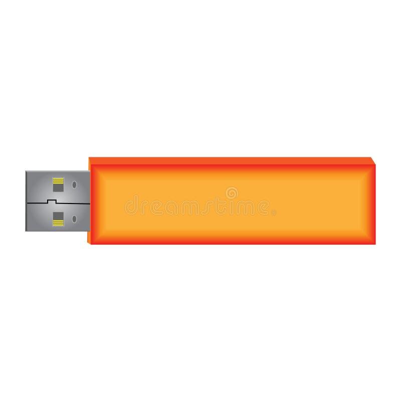De Aandrijving van de Flits USB stock illustratie