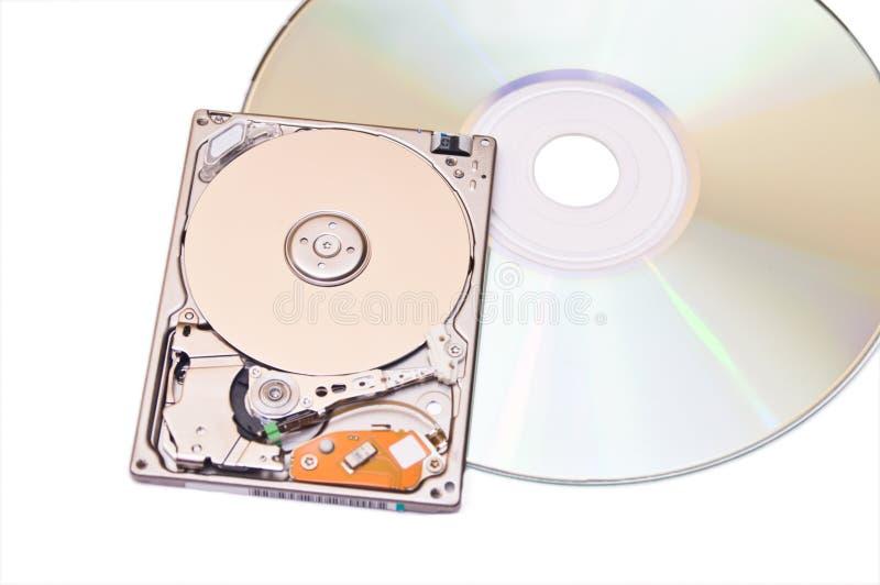 Download De Aandrijving Van De Harde Schijf En Compacte Dics Die Op Wit Wordt Geïsoleerdo Stock Foto - Afbeelding bestaande uit apparatuur, industry: 10781148