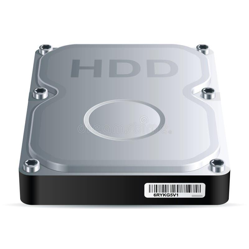 De aandrijving van de harde schijf (HDD) royalty-vrije illustratie