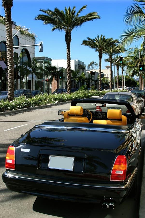 De aandrijving van de rodeo, Beverly Hills stock fotografie