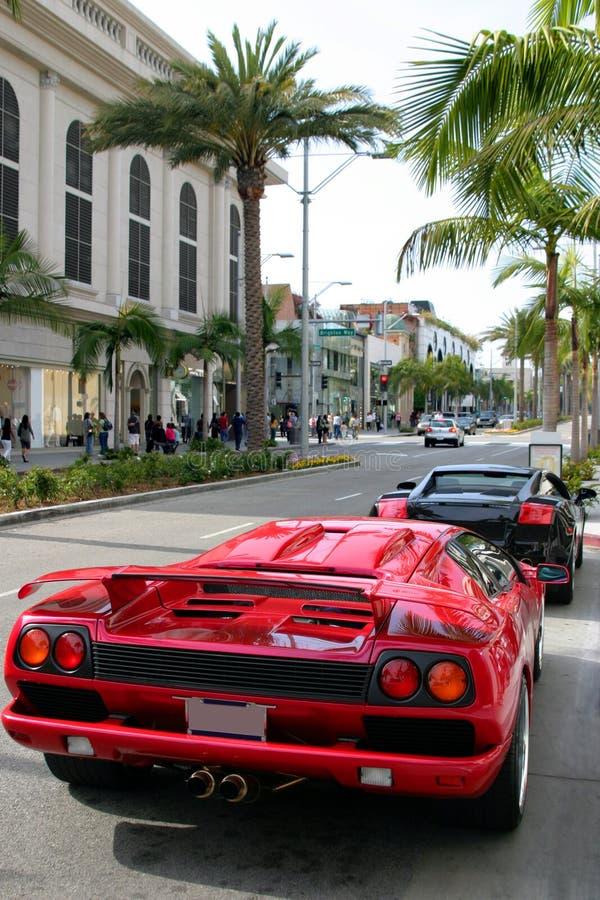 De aandrijving van de rodeo, Beverly Hills, Ca stock afbeeldingen