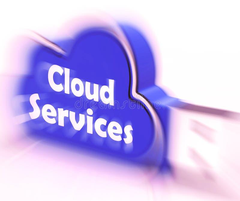 De aandrijving van de Wolkenusb van de wolkendiensten toont de Online Gegevens verwerkende Diensten vector illustratie