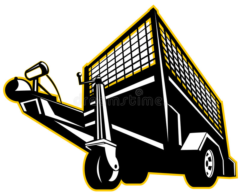 De aanhangwagen van de auto vector illustratie