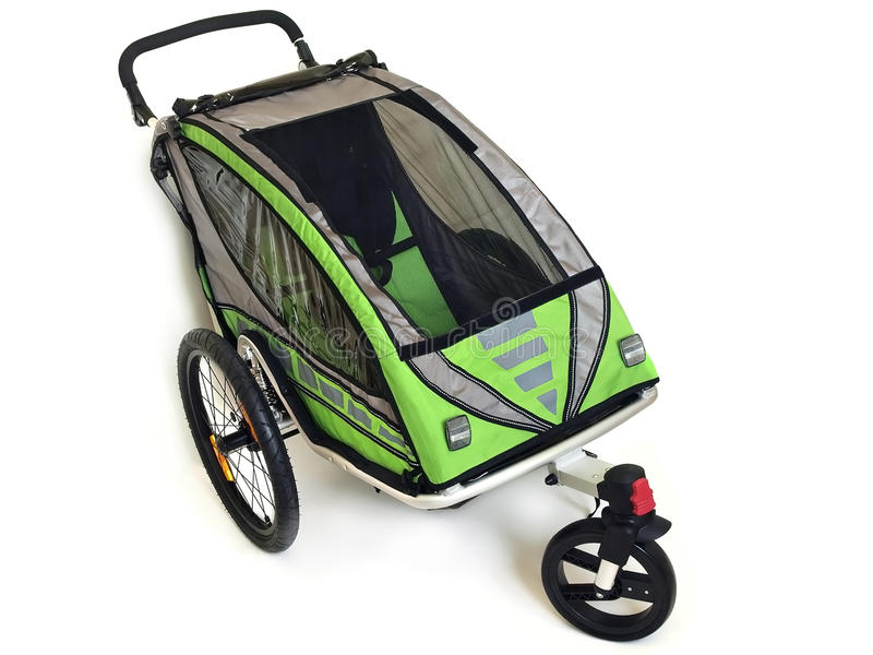 De Aanhangwagen van de kindfiets stock afbeelding