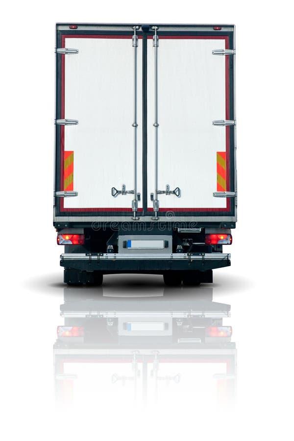 De aanhangwagen van de vrachtwagen stock afbeelding