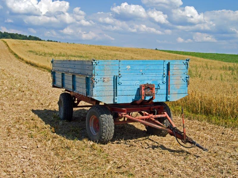 De aanhangwagen van het landbouwbedrijf royalty-vrije stock afbeelding