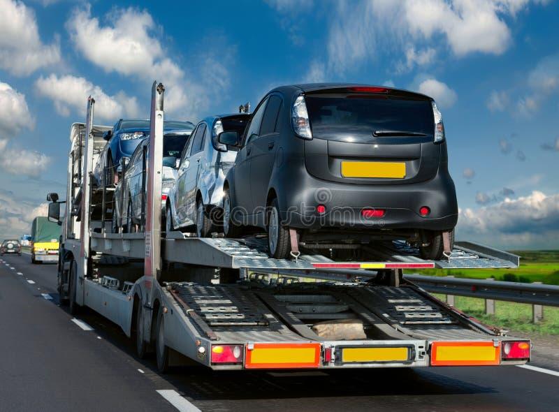 De aanhangwagentransporten royalty-vrije stock afbeelding