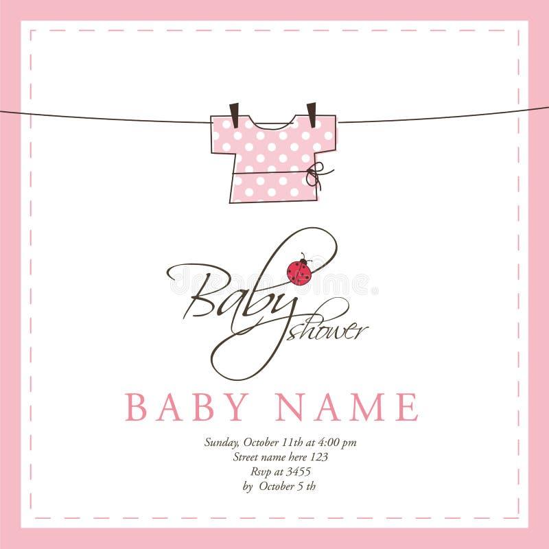 De aankomstkaart van de baby royalty-vrije illustratie