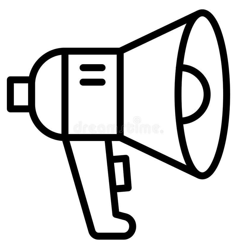 De aankondiging, megafoon isoleerde Vectorpictogram dat gemakkelijk kan in om het even welke grootte worden uitgegeven of worden  stock illustratie