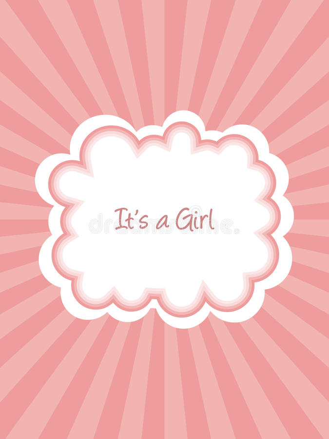 De Aankondiging van het Meisje van de baby stock illustratie