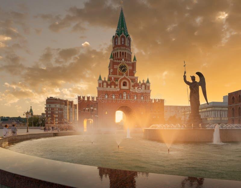 De Aankondigingstoren Yoshkar-Ola stad Rusland stock afbeelding