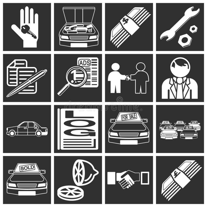De aankooppictogrammen van de auto royalty-vrije illustratie