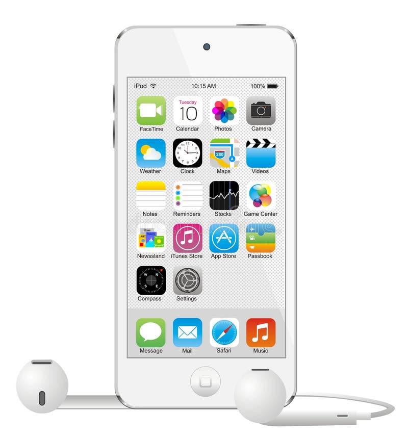 De aanraking van Apple iPod royalty-vrije illustratie