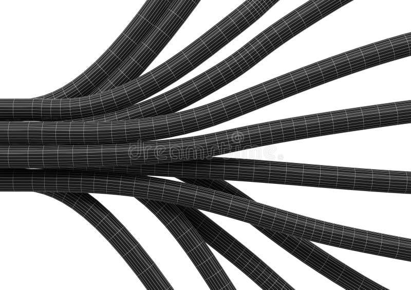 De aansluting van de kabel vezel 4 royalty-vrije illustratie