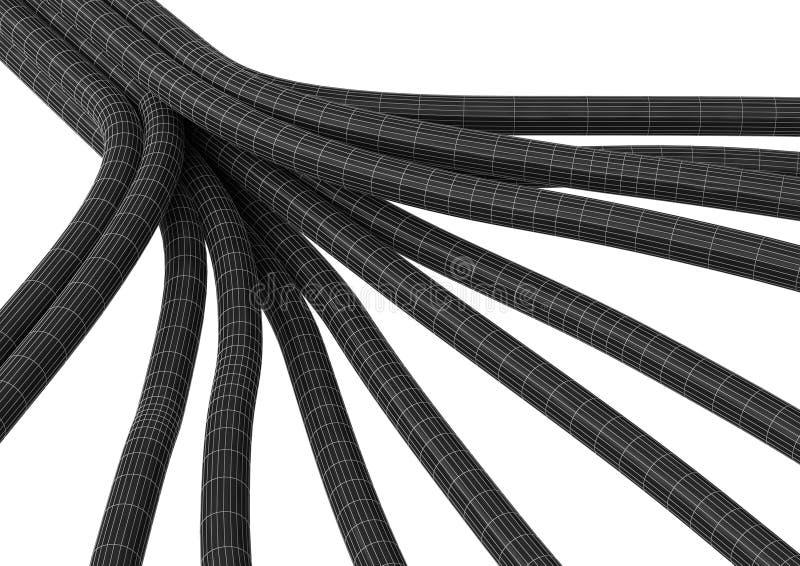 De aansluting van de kabel vezel 8 stock illustratie
