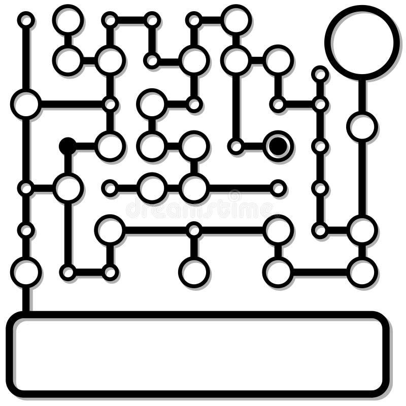 De aansluting van de matrijs de achtergrond van het knopennetwerk royalty-vrije illustratie