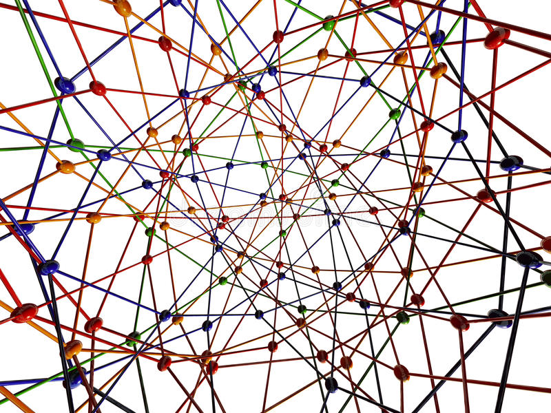 De aansluting van de molecule vector illustratie