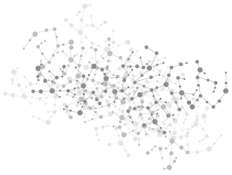 De aansluting van de molecule achtergrond vector illustratie