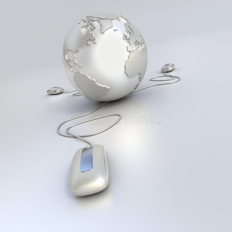 De aansluting van de wereld in zilver vector illustratie