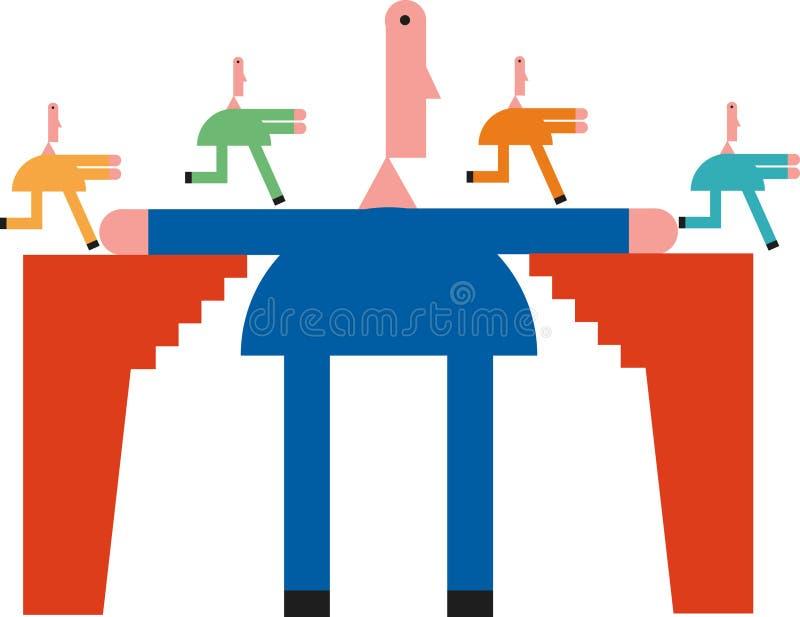 De aansluting van het netwerk stock illustratie