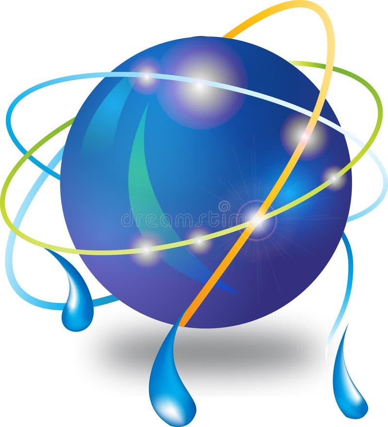 De aansluting van het Web glanzend pictogram stock illustratie