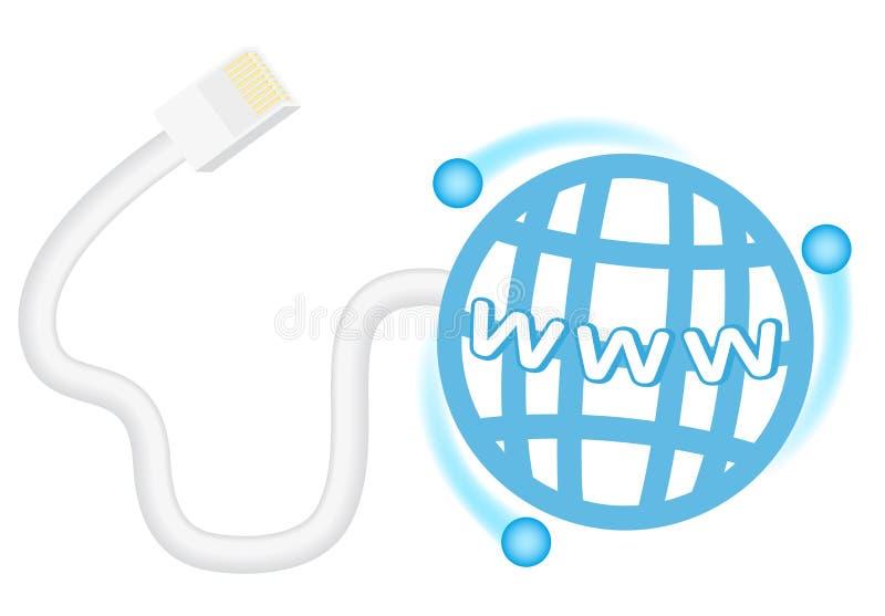 De aansluting van Internet stock illustratie