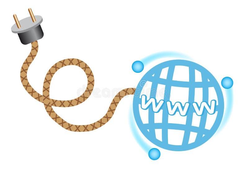 De aansluting van Internet vector illustratie