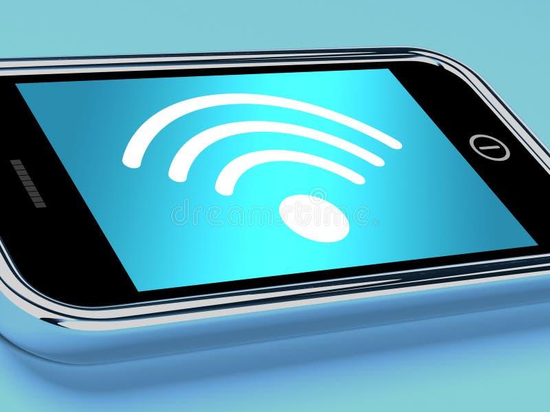 De Aansluting van Internet van Wifi op een Mobiele Telefoon vector illustratie
