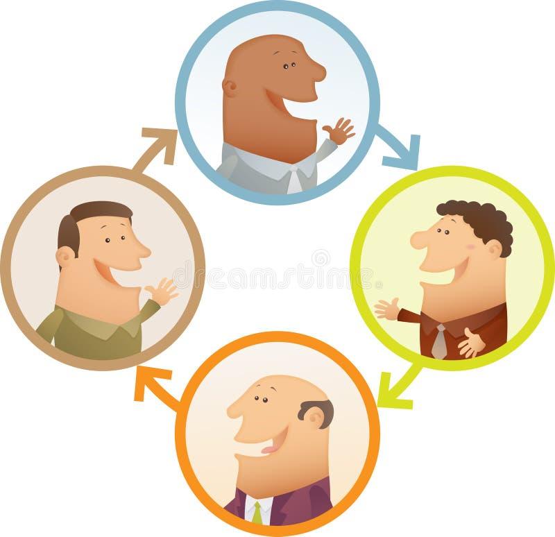 De Aansluting van mensen royalty-vrije illustratie
