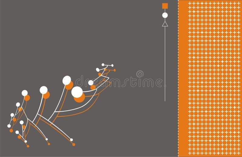 De aansluting van technologie achtergrond stock illustratie