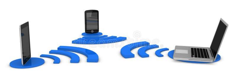De aansluting van Wifi stock illustratie