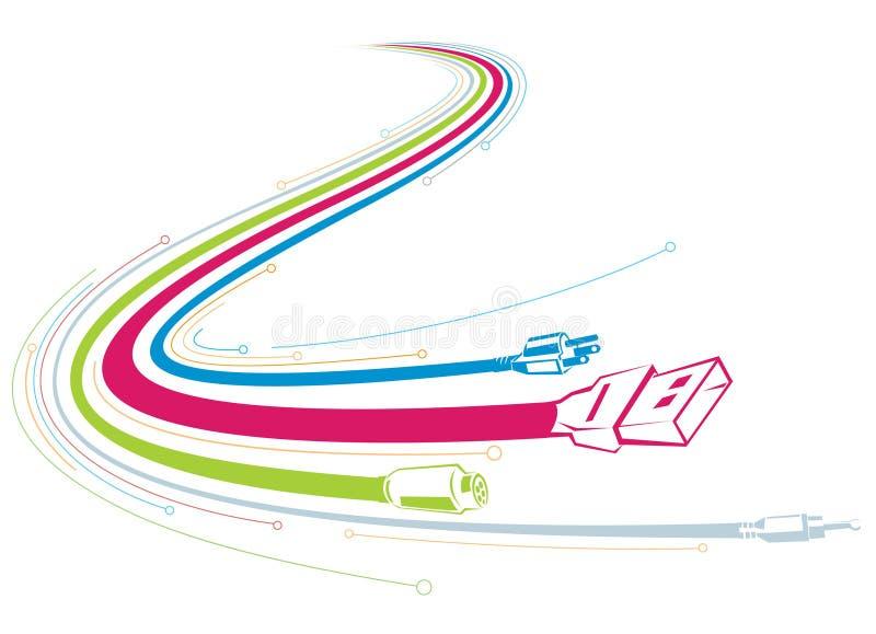De Aanslutingen van de kabel vector illustratie