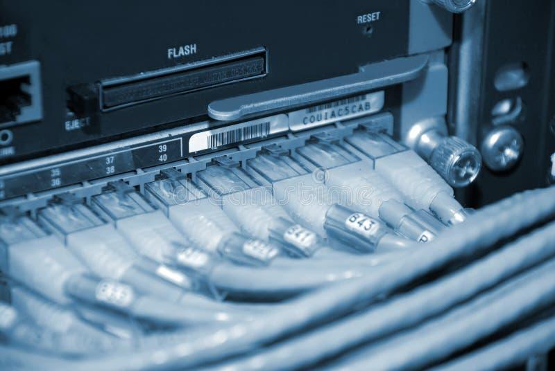 De Aanslutingen van het Netwerk van de router royalty-vrije stock afbeelding