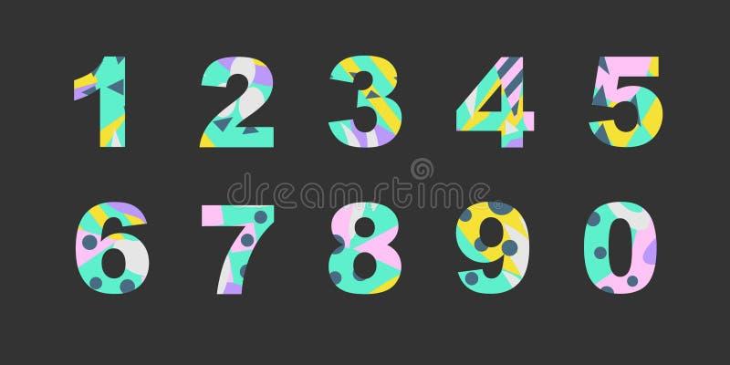 De aantallen met samenvatting vullen royalty-vrije illustratie
