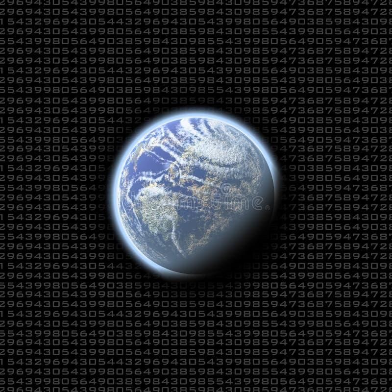 De aantallen van de aarde royalty-vrije illustratie