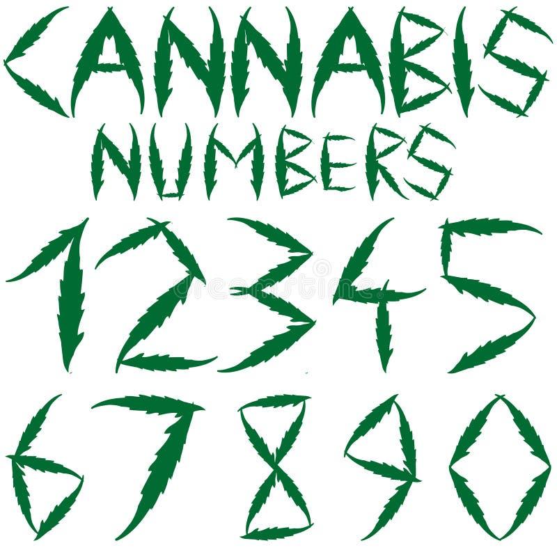 De aantallen van de cannabis royalty-vrije illustratie