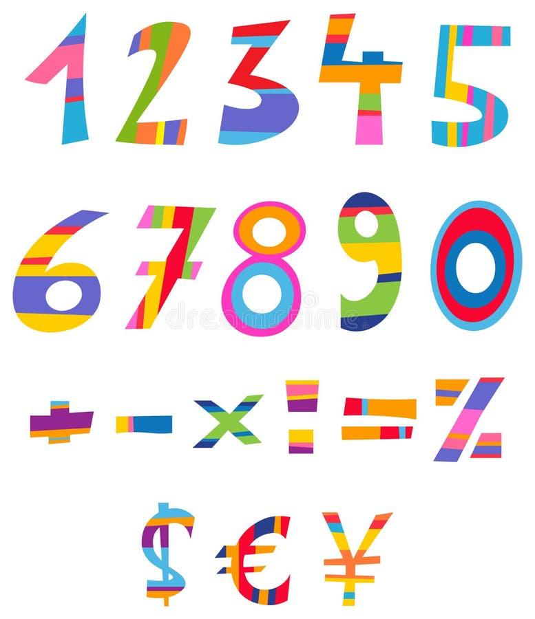 De aantallen van de pret vector illustratie