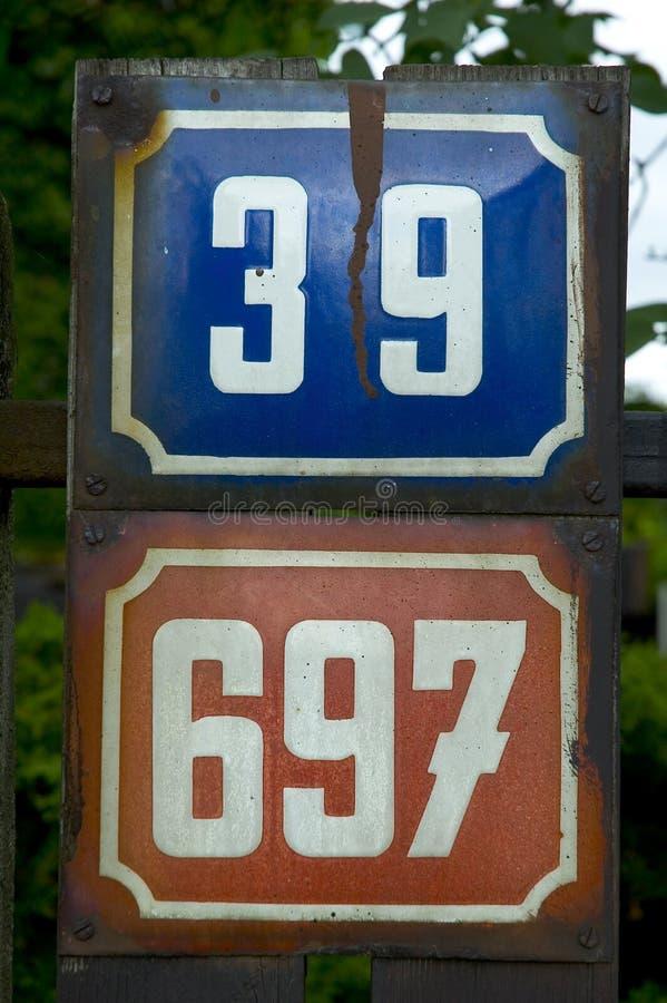 De aantallen van het adres royalty-vrije stock foto's