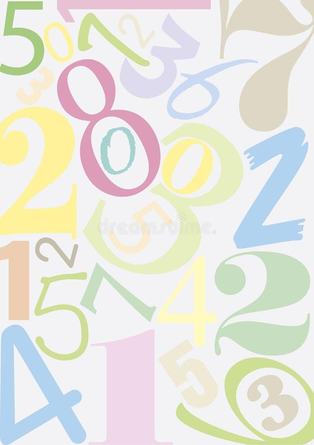De aantallen van Pastell vector illustratie