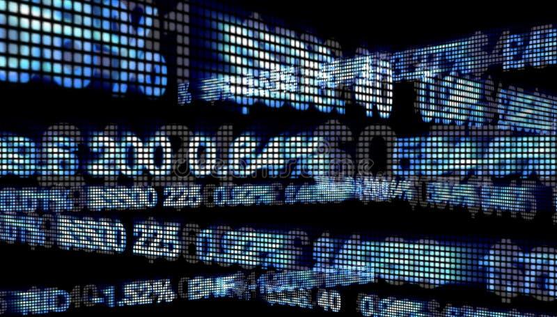 De Aantallen van Wall Street stock illustratie