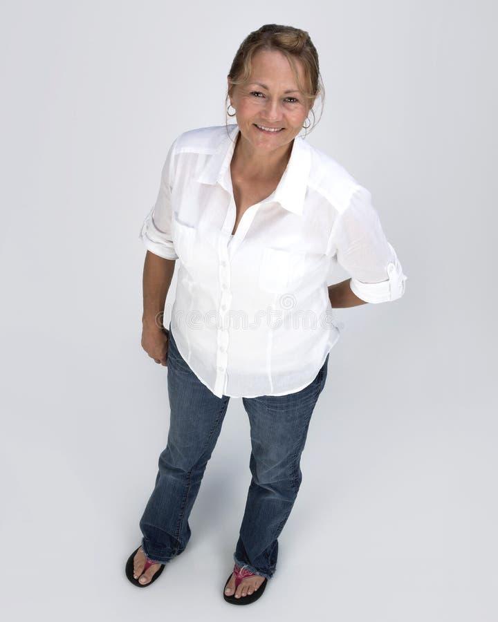 De aantrekkelijke Vrouw van de MiddenLeeftijd stock foto