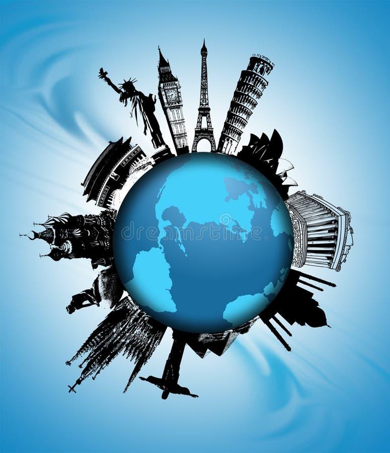 De Aantrekkelijkheden Van De Wereld Stock Fotografie