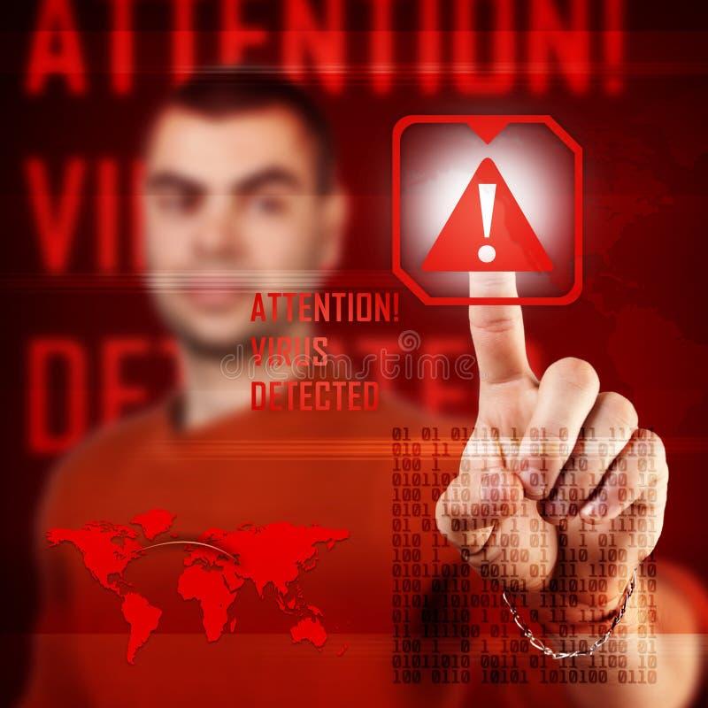 De aanval van Cyber stock illustratie