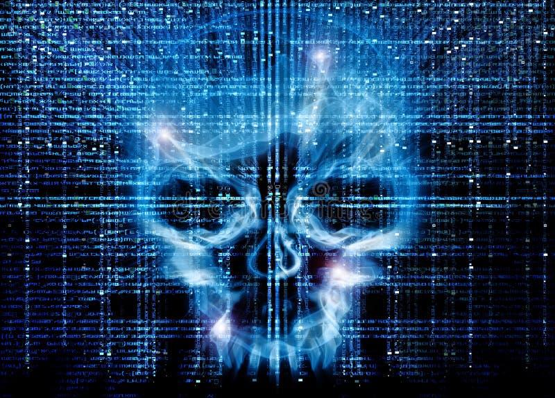 De aanval van de hakker stock foto