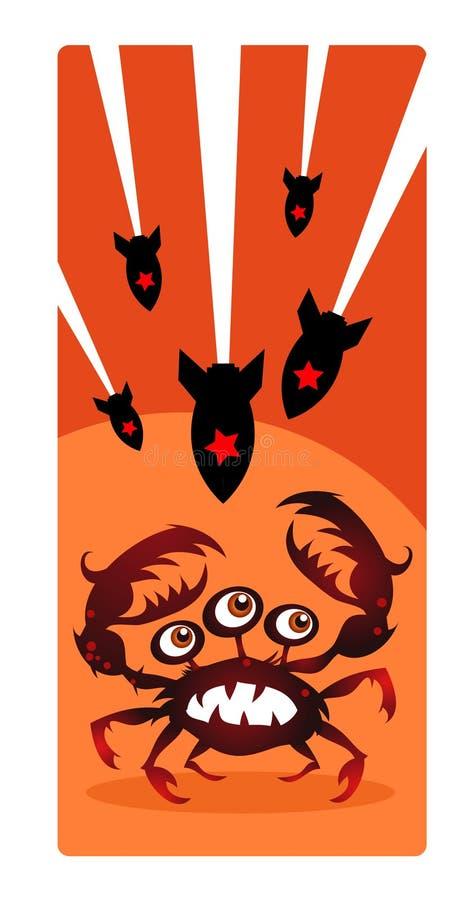 De aanval van de spin royalty-vrije illustratie